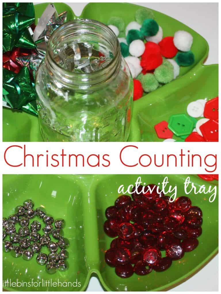 Christmas Counting Activity Tray