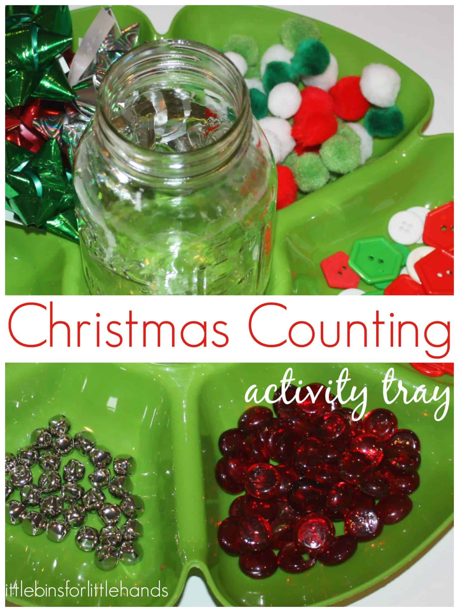 Christmas Math Activity Tray Counting