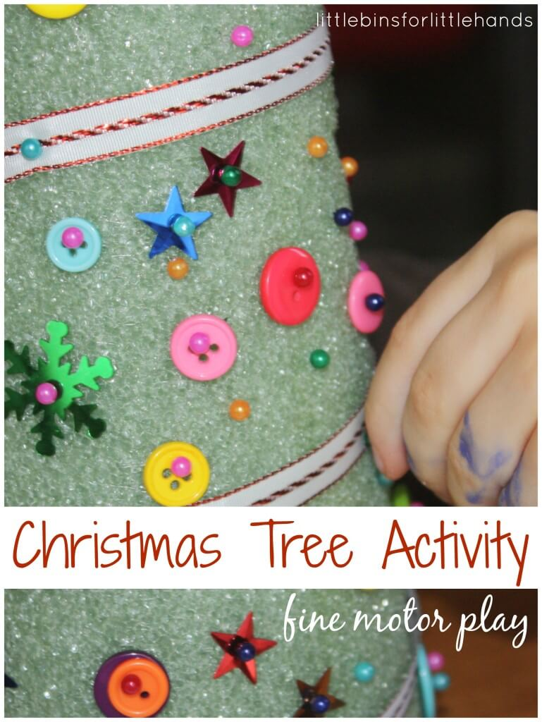 Christmas Fine Motor Tree Decorating Activity