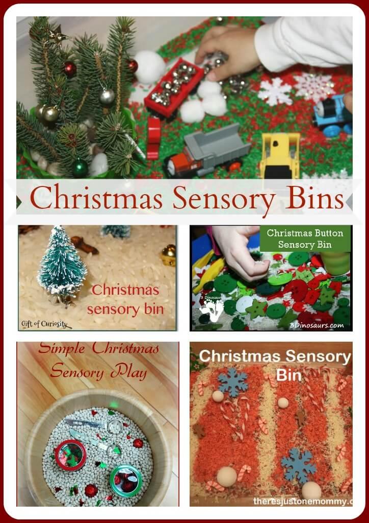 Christmas Sensory Bin Ultimate Play party