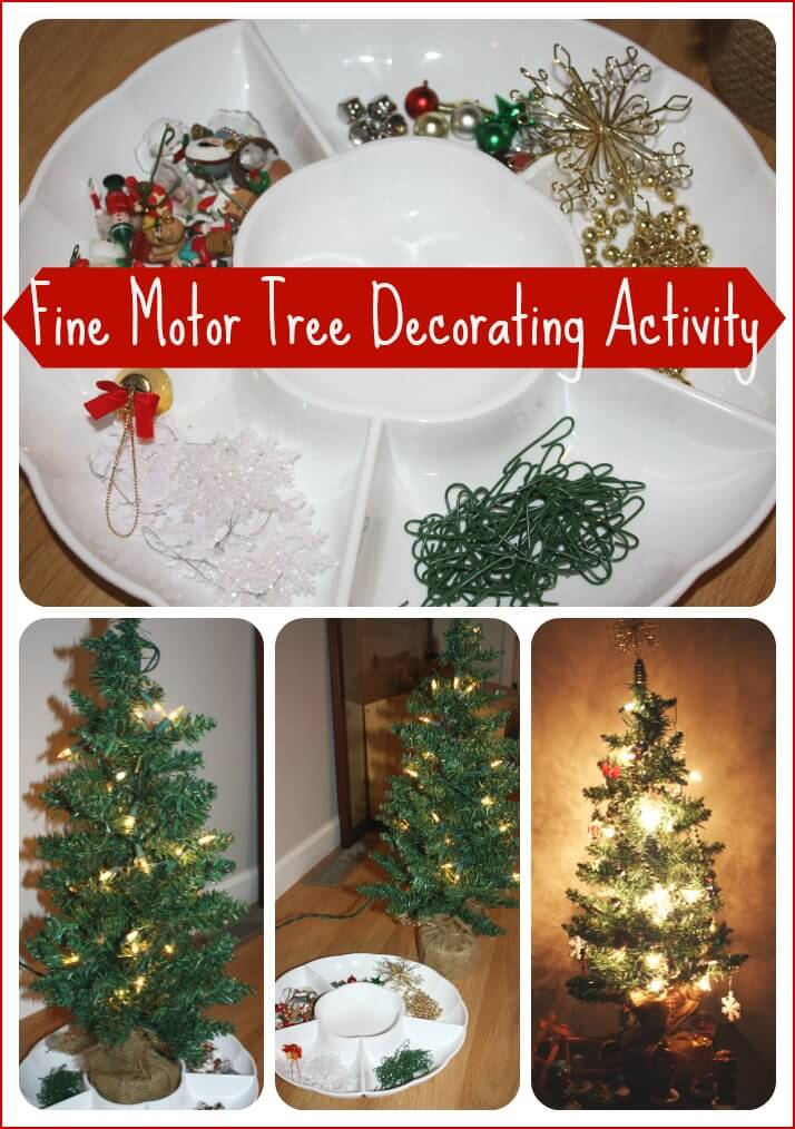 Decorating Tree Fine Motor Activity