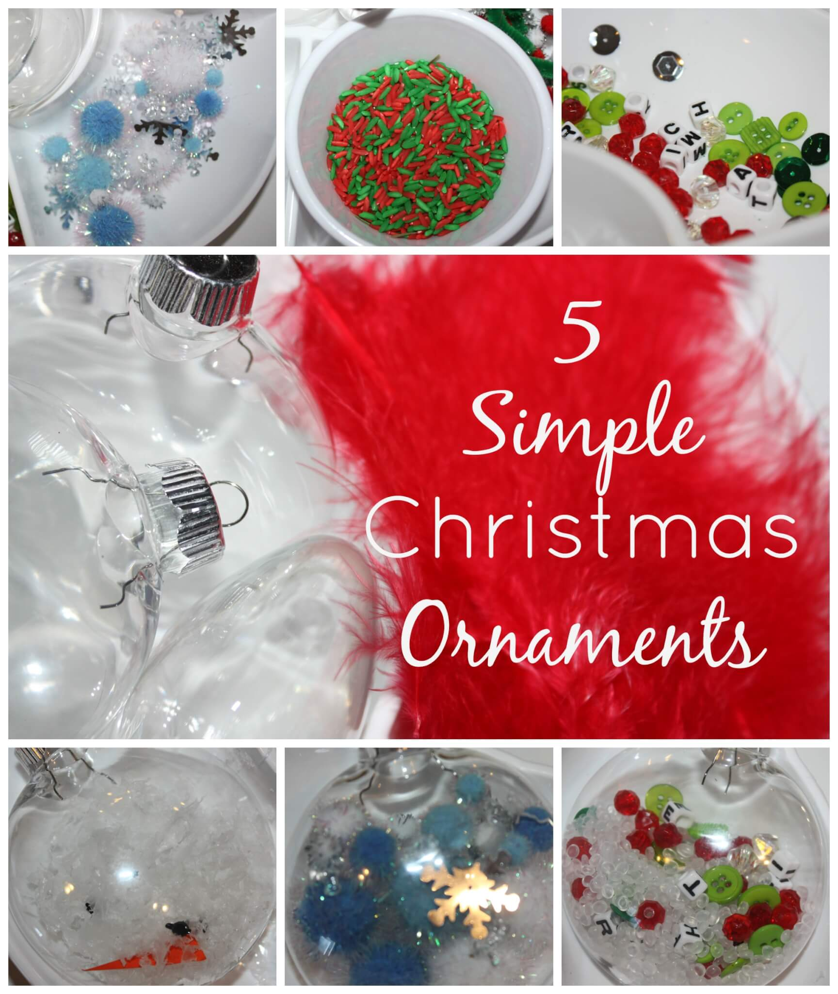 Simple Homemade Christmas Ornaments: Little Bins For Little Hands