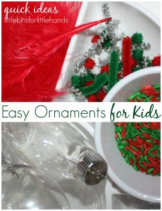 Easy ornaments for kids Christmas activities