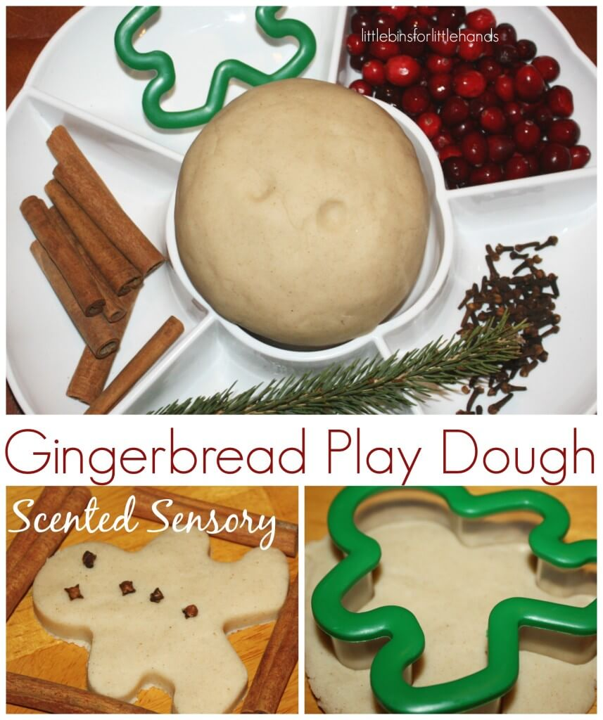 Gingerbread play dough scented sensory play