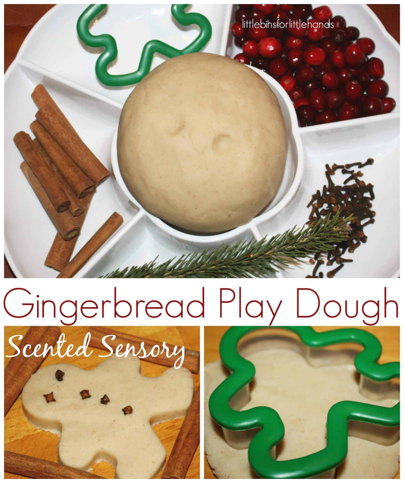 Gingerbread Man Themed Christmas Sensory Play