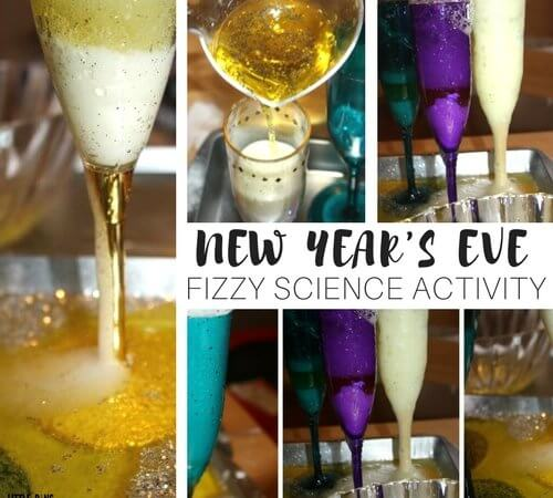New Years Activity and New Years Eve Fizzy Baking Soda Science!