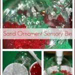 Sand Ornament Christmas Sensory Bin