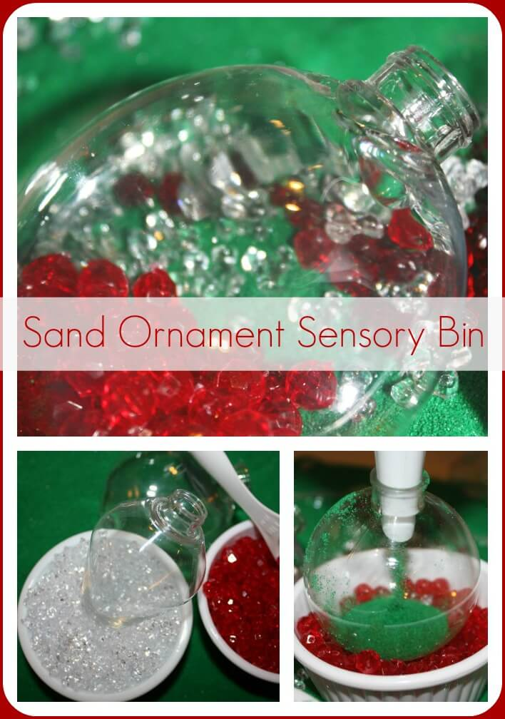 Sand Ornament Christmas Sensory Bin
