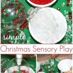 Sand Ornament sensory play Christmas Sensory Bin