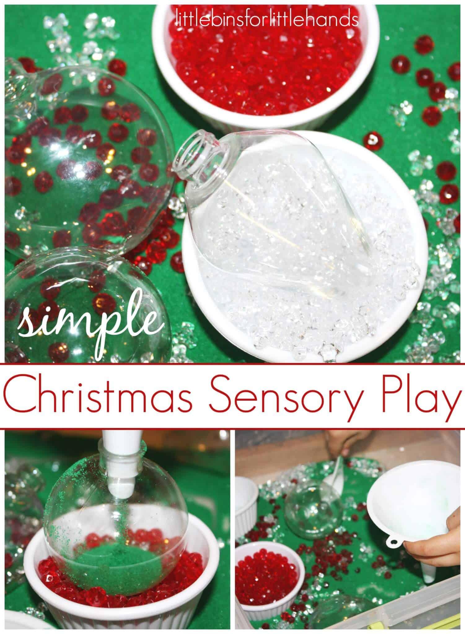 Christmas Sensory Bin Sand Sensory Play