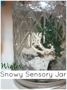 Winter Snowflake Sensory Jar Snowflake Sensory Play