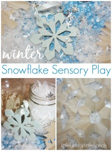 Winter Snowflake Sensory Play