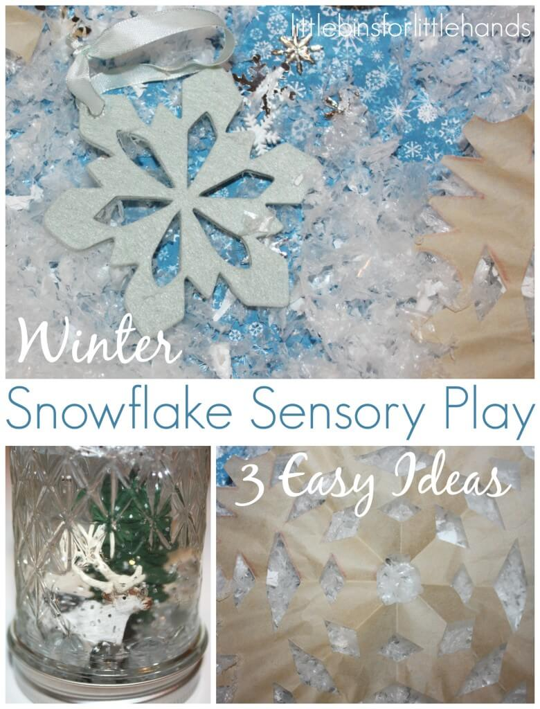 Winter Snowflake Sensory Play 3 Ideas