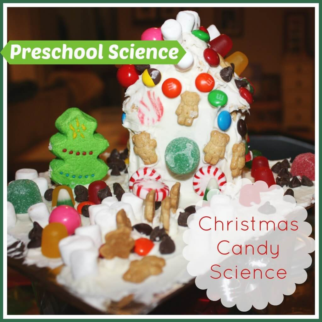 christmas candy science gingerbread house