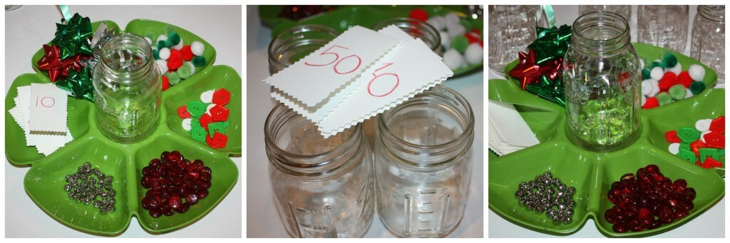 christmas counting activity set up