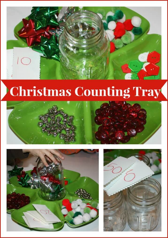 christmas counting tray activity