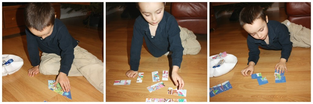 christmas fine motor skills card completing whole view