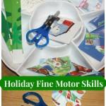christmas fine motor skills card puzzle tray