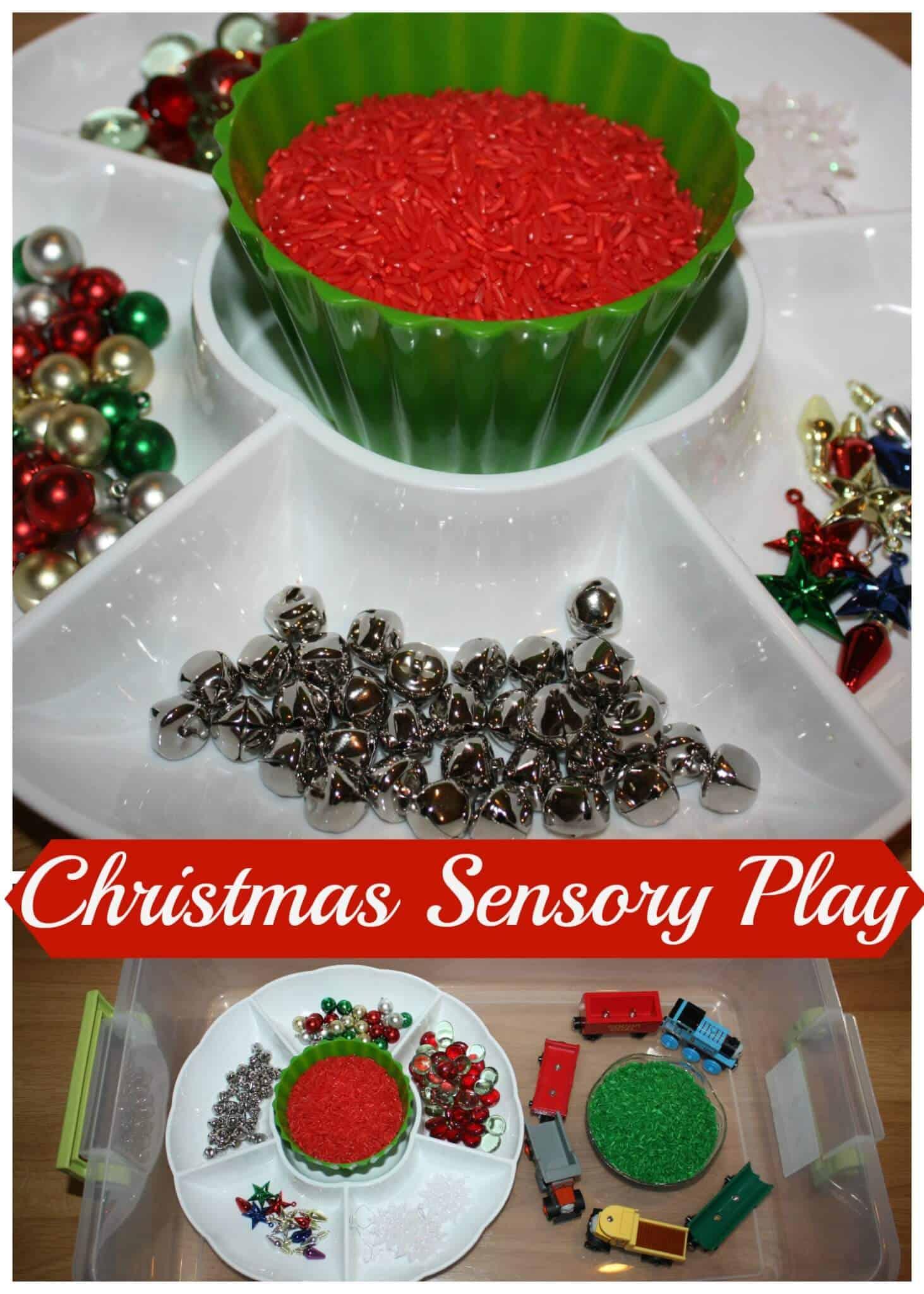 Christmas Sensory Bin Play