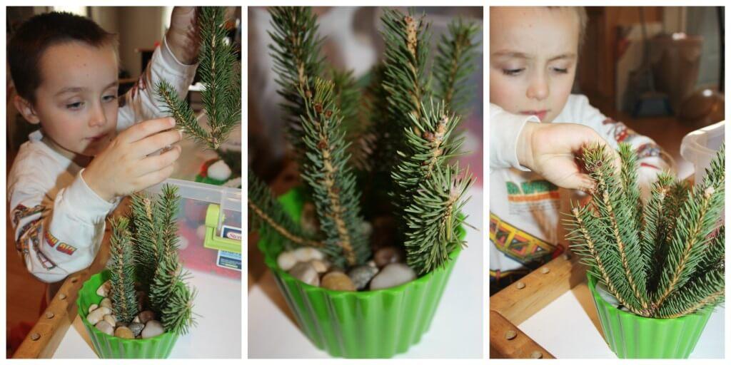 christmas tree making invitation to play