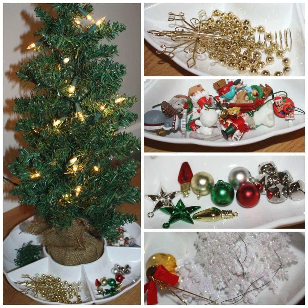 decorating tree set up
