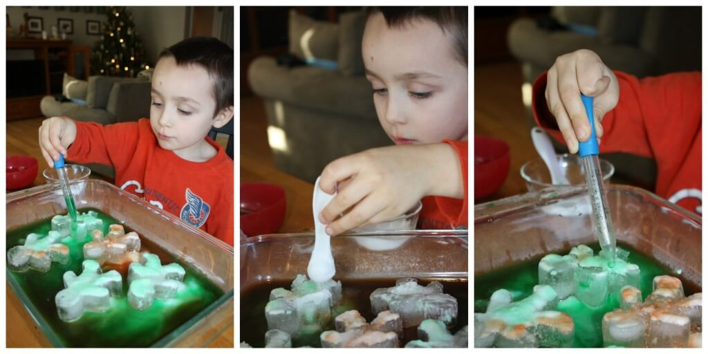 gingerbread men ice eye dropper and spoon skills