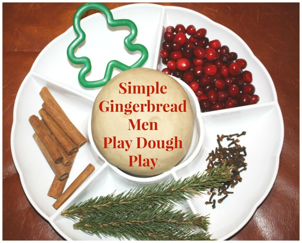 gingerbread men play dough tray