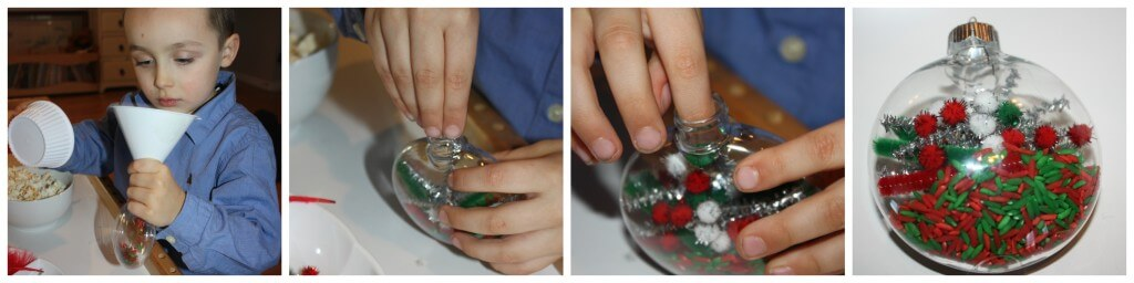 globe ornament pipe cleaner making