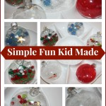 globe ornament simple fun kid made