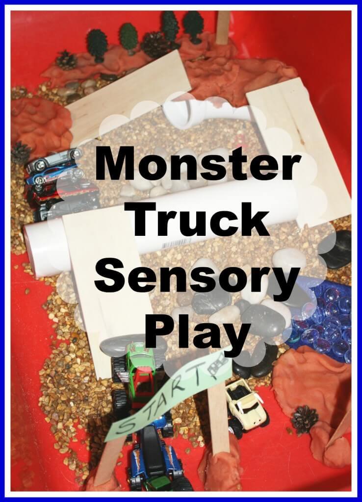 monster truck sensory play