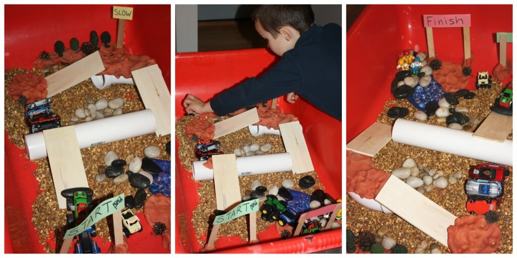 monster truck sensory play 1