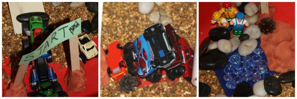 monster truck sensory play elements