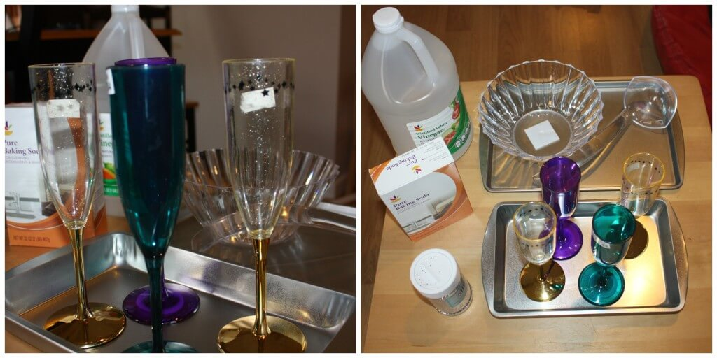 new years fizzy science set up