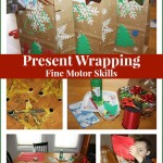 present wrapping fine motor skills activity