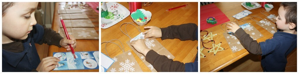present wrapping fine motor skills label writing