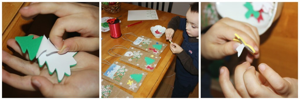 present wrapping fine motor skills stickers
