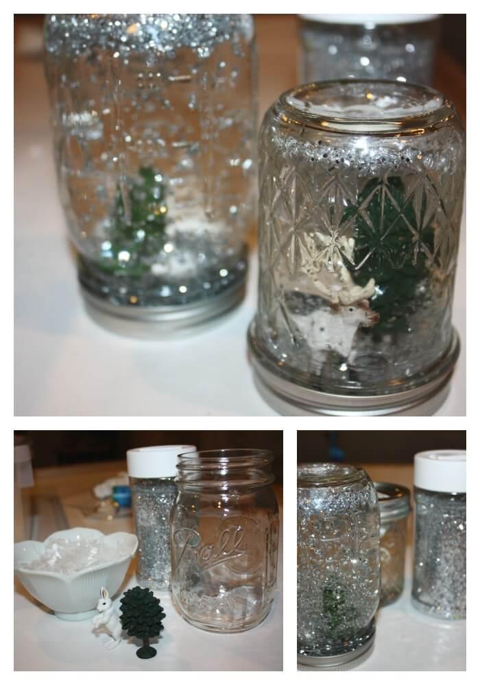 snowflake sensory jar play