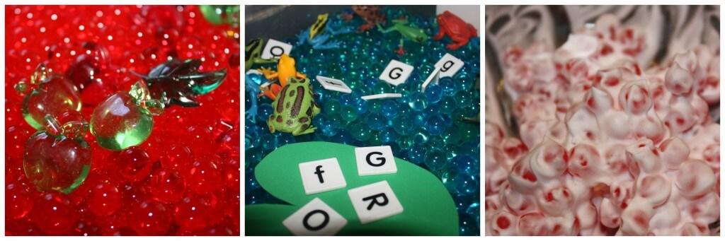 water beads sensory bins