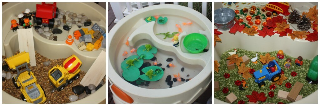 water table sensory bins