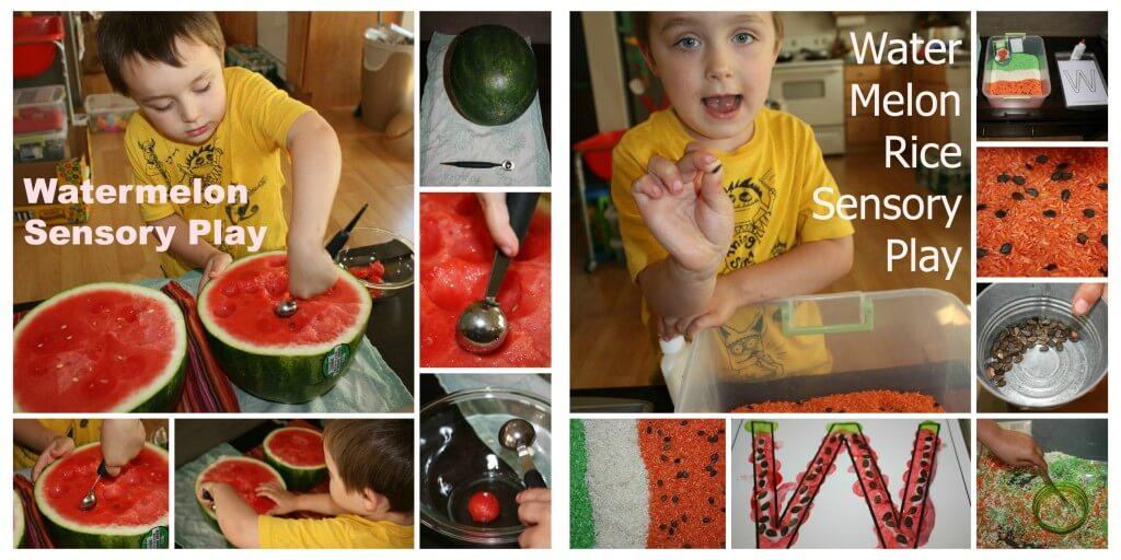watermelon sensory bins 2013