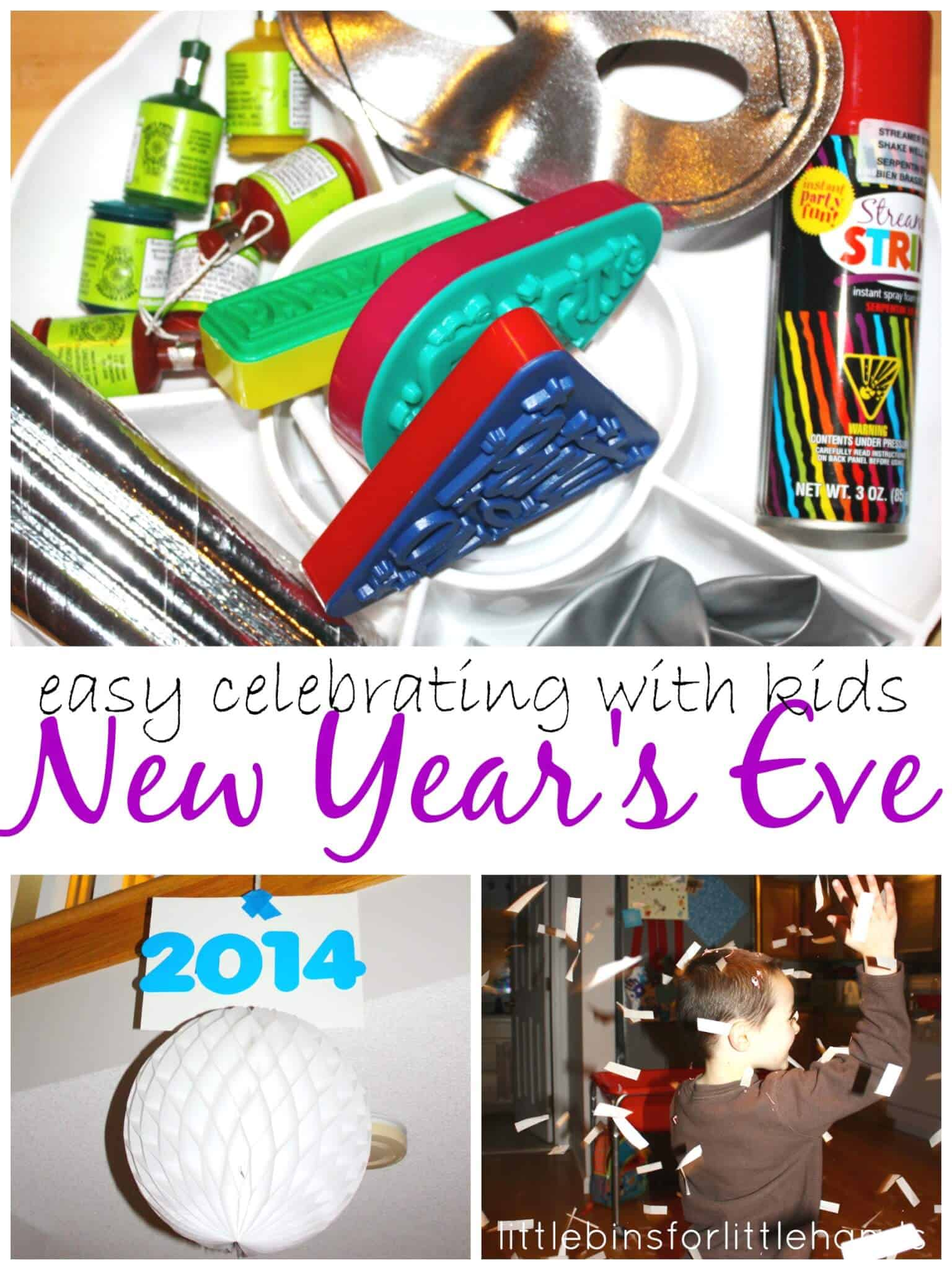 New Years Eve Activities and Party Ideas for Kids