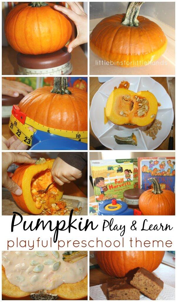 Pumpkin Activities for Preschool play and learn