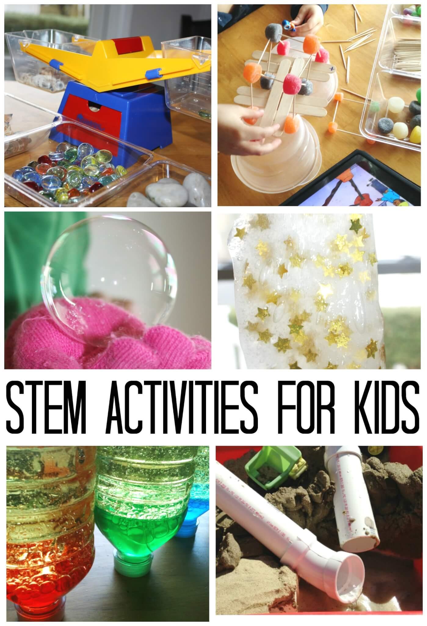 STEM Activities For Kids Ideas - Easy Kindergarten Science Experiments