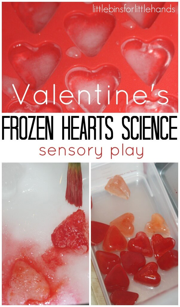 Valentines Ice Science Experiments Valentines early learning sensory play