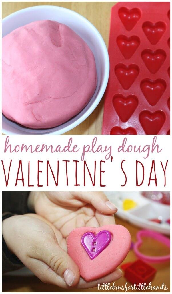 Valentines Play Dough Sensory Play Invitation