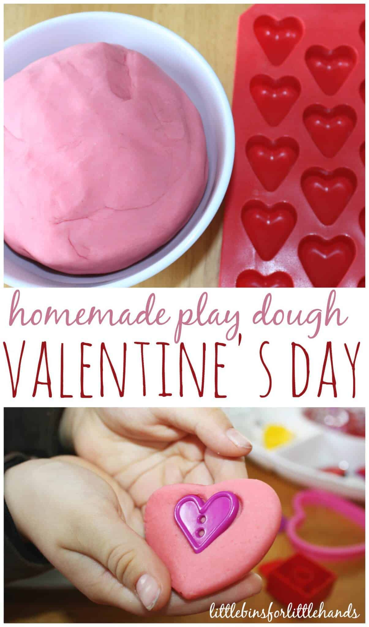 Valentines Play Dough Activity Sensory Play