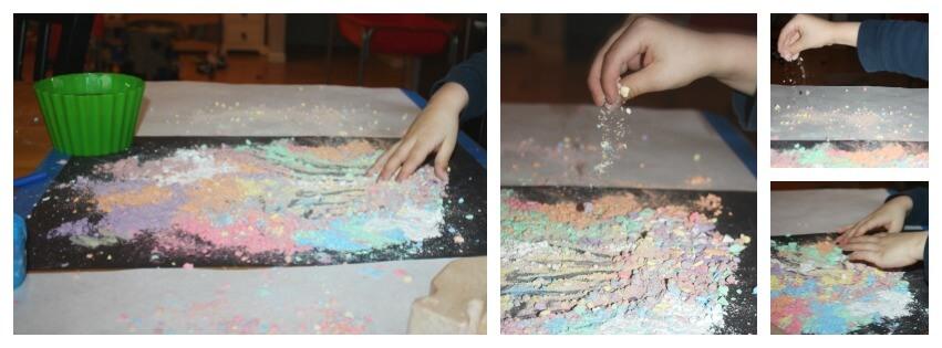 chalk play sensory play