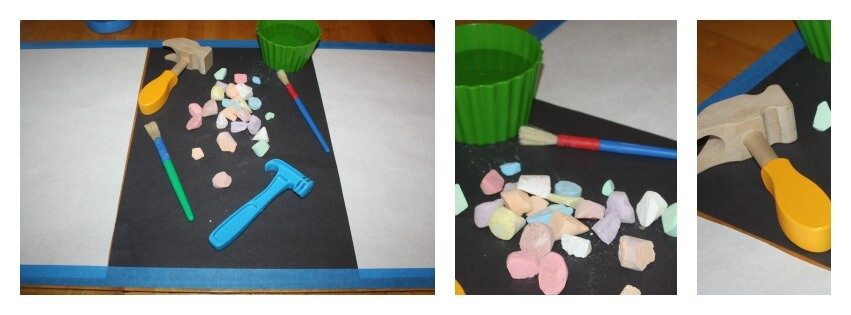 chalk play set up