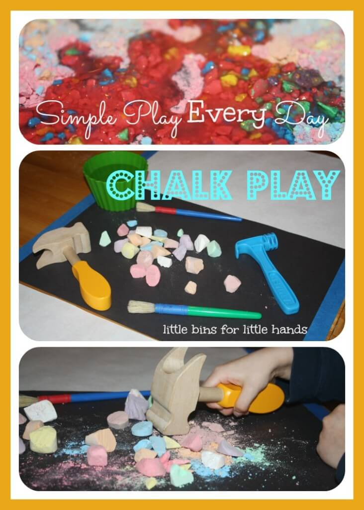 chalk play simple play