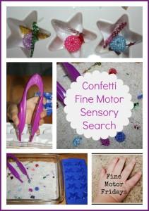 confetti fine motor skills sensory activity